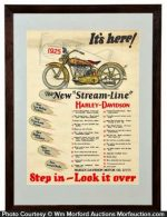 1925 Harley Davidson Poster