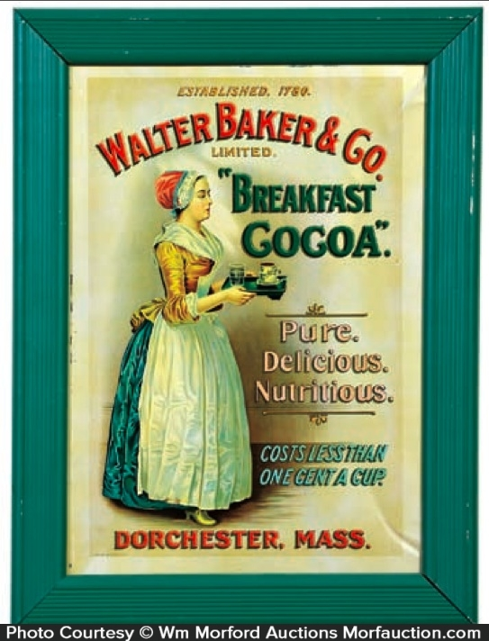 Walter Baker's Cocoa Sign
