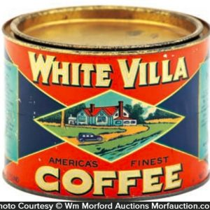 White Villa Coffee Can