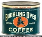 Bubbling Over Coffee Can