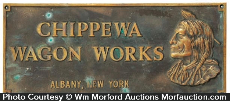 Chippewa Wagon Works Sign