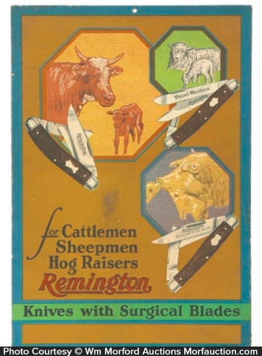 Remington Knives Sign