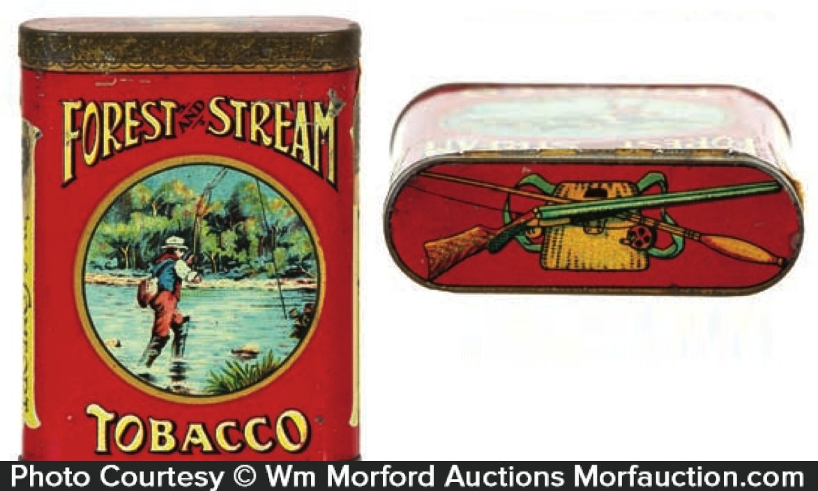 Forest & Stream Creel Lid Tobacco Tin