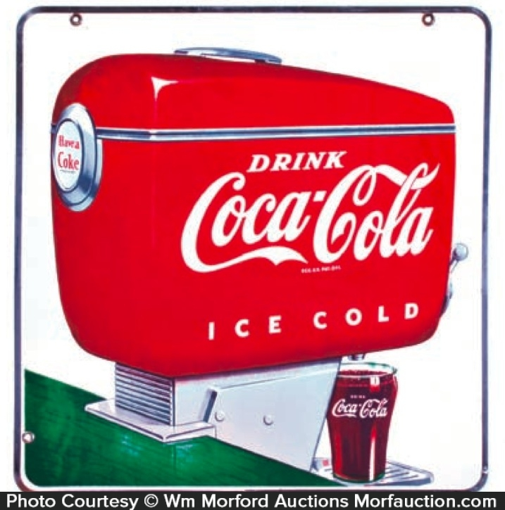 Coca-Cola Dispenser Sign