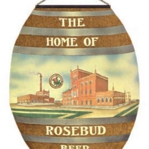Schwenk Barth Rosebud Beer Sign