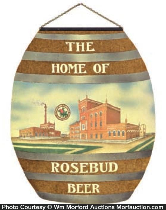 Schwenk Barth Rosebud Beer Sign