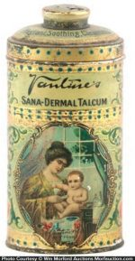 Vantine's Sana-Dermal Talcum Tin