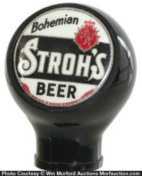 Stroh's Bohemian Beer Tap Knob