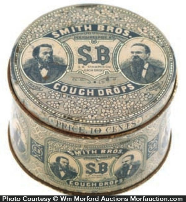 Smith Bros. Sb Cough Drops Tin