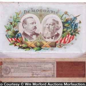 Political Grover Cleveland Cigar Box