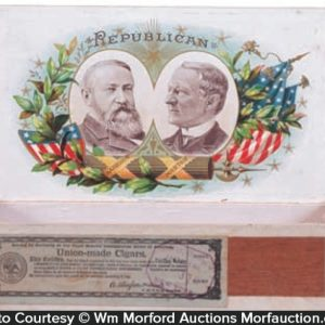 Political Harrison Cigar Box