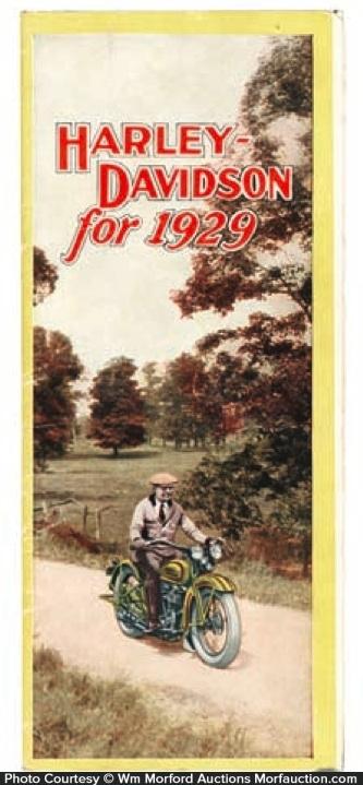 1929 Harley Davidson Catalog