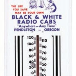 Black & White Radio Cabs Thermometer