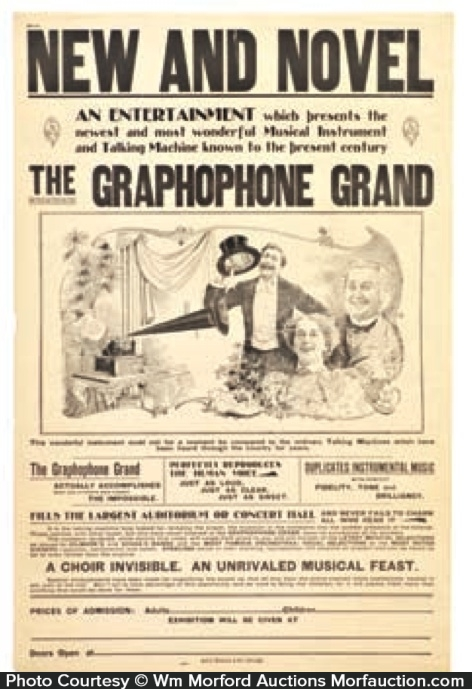 Gramophone Grand Phones Poster