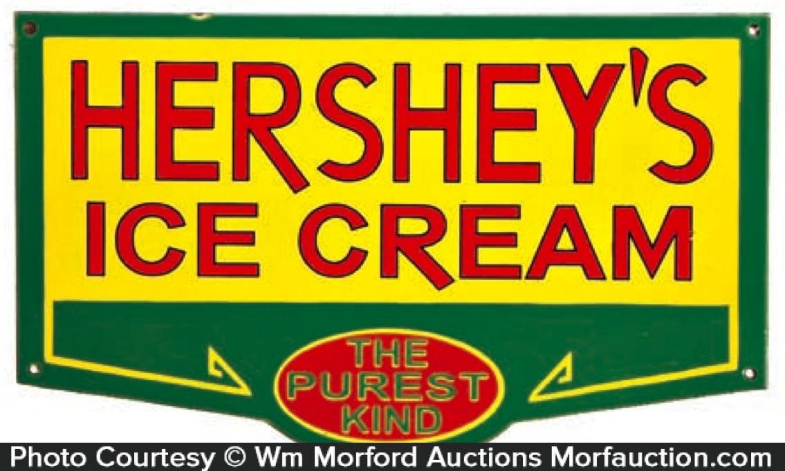 Hershey's Ice Cream Sign