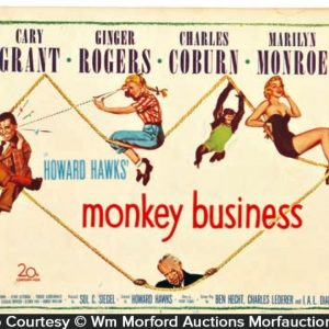 Monkey Business Lobby Card Sign