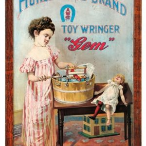 Gem Horse Shoe Toy Wringer Sign