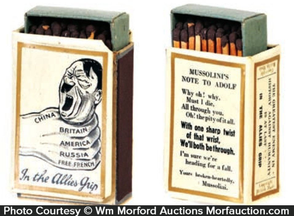 Wwii Hitler Match Box Holder