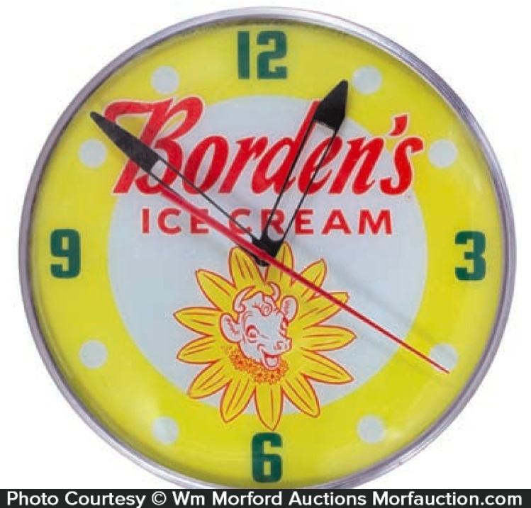 Borden's Ice Cream Clock