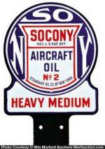 Socony Aircraft Oil Sign