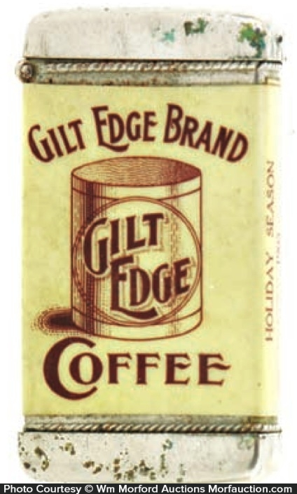 Gilt Edge Coffee Match Safe