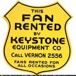 Keystone Equipment Porcelain Shield Sign