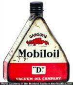 Gargoyle Mobiloil Oil Can