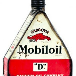 Gargoyle Mobiloil Oil Can
