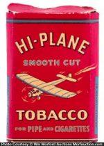 Hi-Plane Cardboard Tobacco Tin