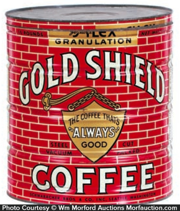 Gold Shield Coffee Can