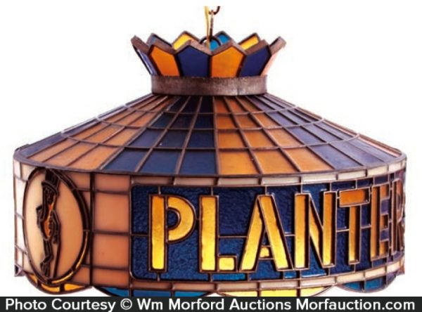 Planters Stained Glass Lamp Shade
