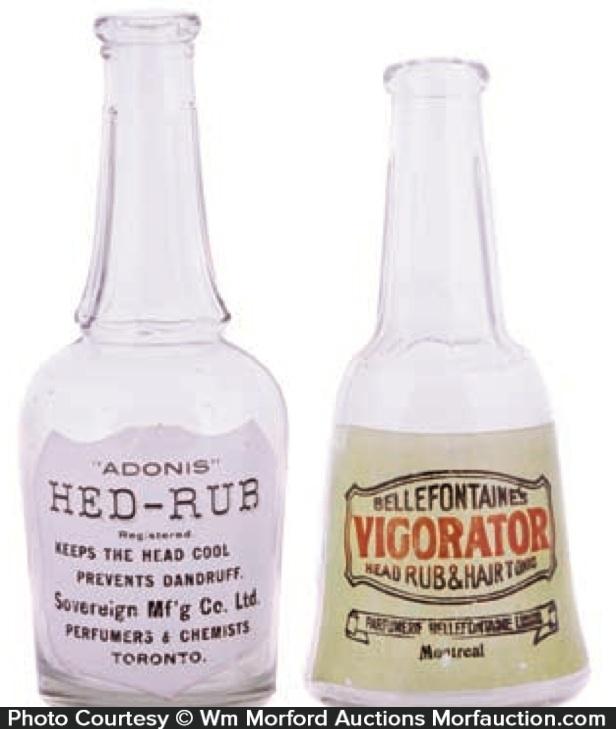 Vintage Barber Shop Bottles