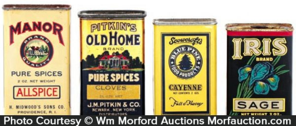 Antique Spice Tins