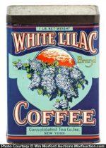White Lilac Coffee Tin
