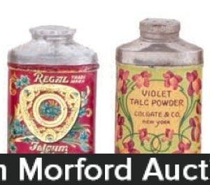 Vintage Talc Sample Tins