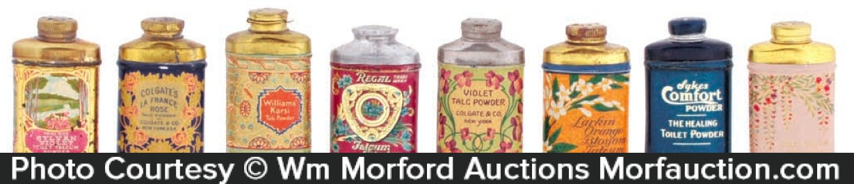 Vintage Talc Sample Tins