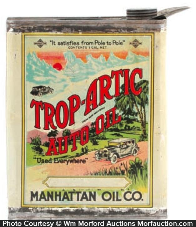 Antique Advertising Trop Artic Oil Can Antique Advertising