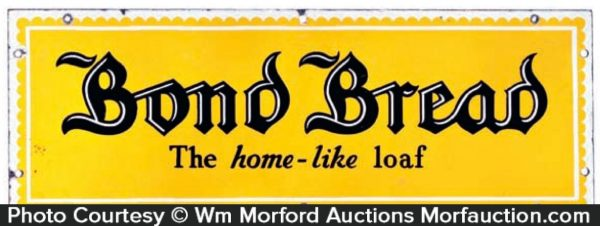 Porcelain Bond Bread Sign
