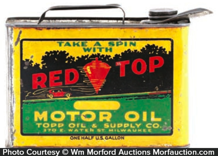 Red Top Oil Can