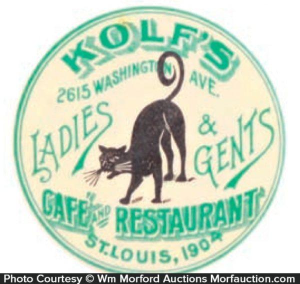 Kolf's Cafe Pocket Mirror