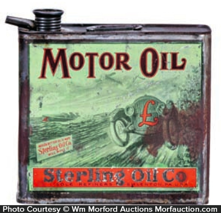 Sterling Motor Oil Can