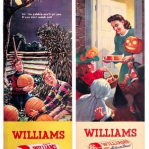 Halloween Williams Holsum Bread Signs