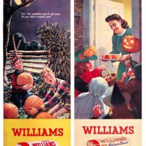 Halloween Williams Holsum Bread Signs