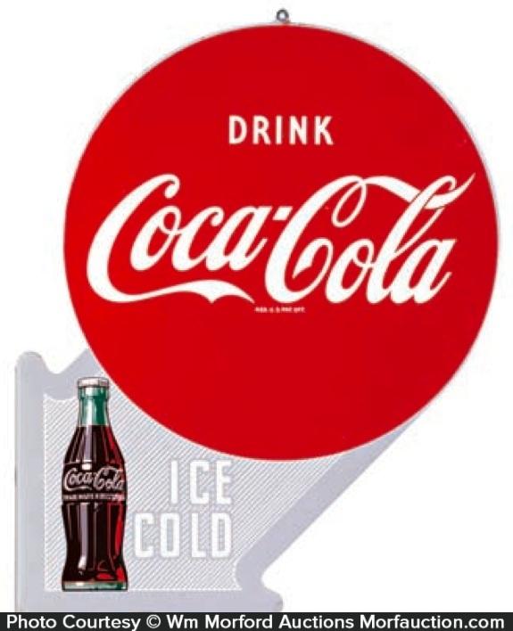 Coca-Cola Ice Cold Flange Sign