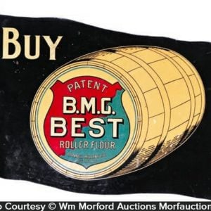 B.M.G. Best Flour Banner Sign