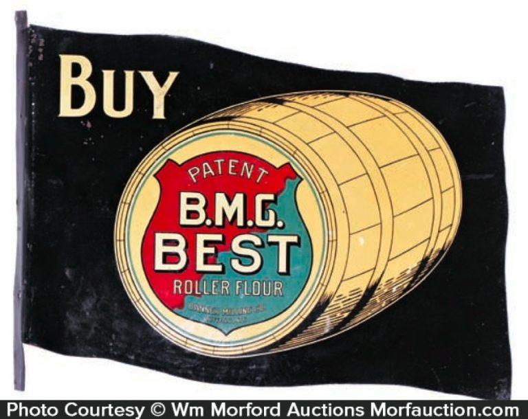 B.M.G. Best Flour Banner Sign