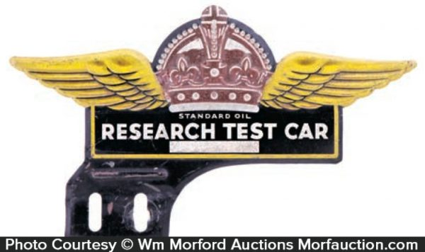 Standard Oil Test Car Bumper Tag