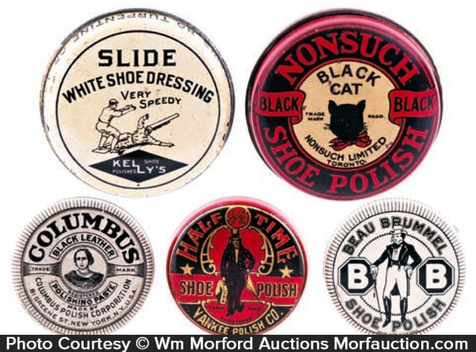 Vintage Shoe Polish Tins