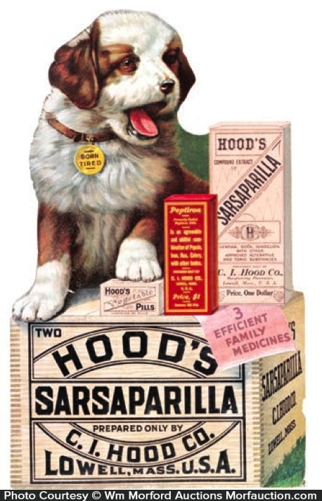 Hood's Sarsaparilla Sign