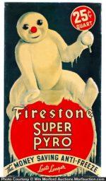 Firestone Anti-Freeze Sign